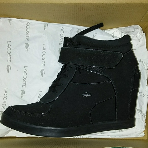 bb2d28487c334a Lacoste Shoes - Black LACOSTE Wedge Heels